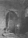 WESTMINSTER HALL. Guy Fawkes's cellar. London c1880 old antique print picture